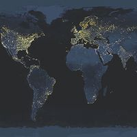 Nightlight Worldmap - DeinDesign