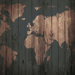 Wooden World Map - DeinDesign