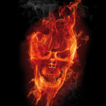 Burning Skull - DeinDesign